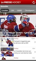 Screenshot of La Presse Hockey