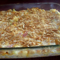 Cheesy Hot Chicken Salad Casserole