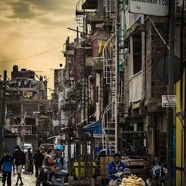 by Albert Elgert - City,  Street & Park  Street Scenes ( Urban, City, Lifestyle )
