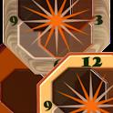 Crazy Clock Brown Design icon