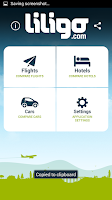 Screenshot of Liligo flight and hotel search
