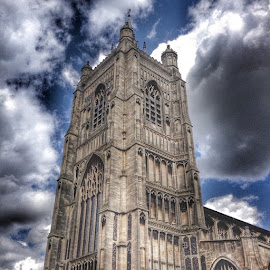 by Audrey van Rensburg - Buildings & Architecture Places of Worship ( norwich, cathedral, norfolk, clouds, sky, tower, architecture, buildings )