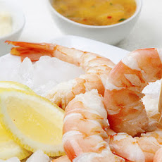 Prawns With A Trio Of Dipping Sauces
