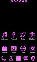 Screenshot of Pink Neon Free Theme