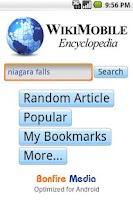 Screenshot of WikiMobile (Wikipedia Browser)