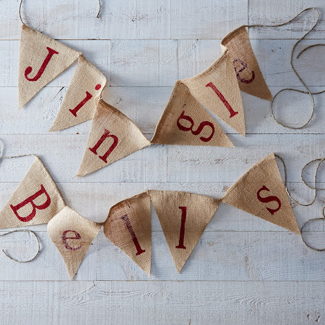 Jingle Bells Burlap Banner