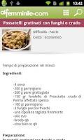 Screenshot of Cucina alfemminile : ricette