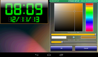 Screenshot of LED clock widget