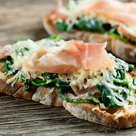 Spinach and Cheese Tartines