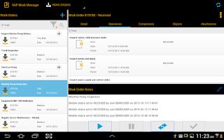 Screenshot of SAP Work Manager