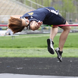Danielle attempts a jump of 5'-0 by Robert Daveant - Sports & Fitness Other Sports