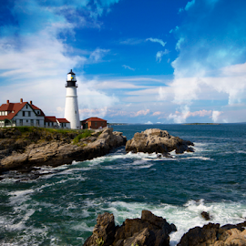 Portland Head Lighthouse by Donna Neal - Landscapes Waterscapes ( portland head light )