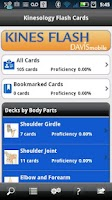 Screenshot of Kinesiology Flash Cards
