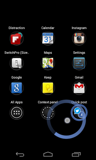 swipepad-hyperspace-launcher for android screenshot