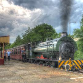War Dept 132 Sapper at Rawtenstall by David Garnett - Transportation Trains ( war dept 132, rawtenstall, east lancashire railway, sapper, elr, war dept )