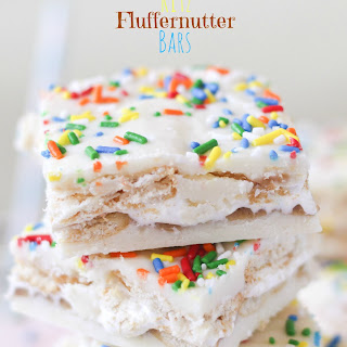 White Chocolate Ritz Fluffernutter Bars