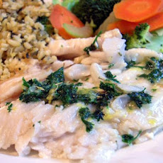 Grilled Fish With Lemon Parsley Butter