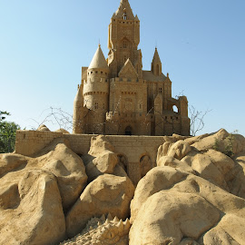 Sandy Palace by Pipia Kanjeva - Artistic Objects Other Objects ( #sand, #art, #beach, #sculpture, #summer,  )