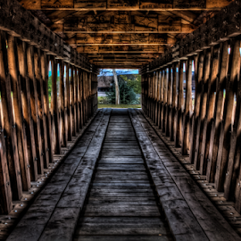 Old Bridge by Dave Zuhr - Buildings & Architecture Other Interior ( wooden, zoom, perspective, bridge, d_zuhr, dzuhr,  )