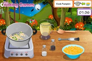 Screenshot of Pumpkin Soup Cooking