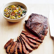 Seared Sirloin Steak with Olive Relish