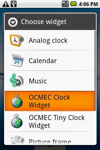 OCMEC Clock Widget
