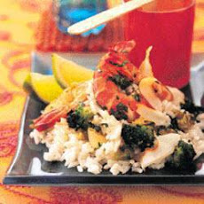 Thai Coconut Rice With Prawns