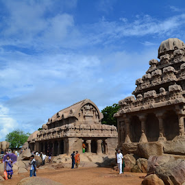 Rathas of Mahabalipuram. by Adhitya Ranganathan - Buildings & Architecture Statues & Monuments