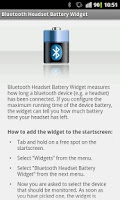 Screenshot of Bluetooth Headset Battery