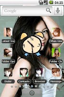 Screenshot of Cute girl Full Theme