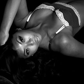 Suzy Says by Troy Phifer III - Nudes & Boudoir Boudoir ( white, bra, hair, black, eyes )