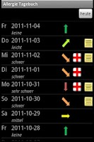 Screenshot of Allergy Diary