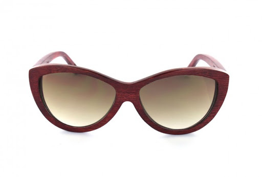 Wood Sunglasses Woodys Barcelona; Sama Red Brown