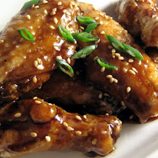 Chicken Wings with Honey-Soy Glaze