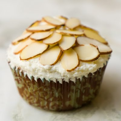 Almond Amaretto Cupcakes with Amaretto Whipped Cream