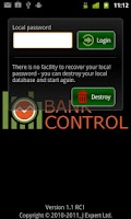 Screenshot of Bank Control UK Mobile Banking