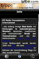Screenshot of RTI Radio