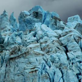 Blue Glacier by Rhonda Silverton - Landscapes Caves & Formations ( glacier, blue ice, blue, ice, alaska, landscape, glacier bay,  )