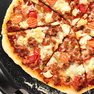 Sausage and Giardiniera Pizza