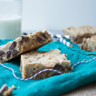Chocolate and Caramel Chip Cream Cheese Cookie Bars