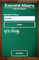 Screenshot of Sinau Aksara Jawa