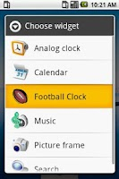 Screenshot of FOOTBALL CLOCK