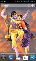 Screenshot of 3D Radha Krishna Jhulan LWP