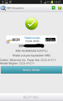 Screenshot of IMEI Sorgulama