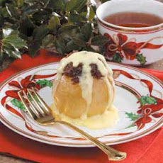 Stuffed Apples with Custard Sauce