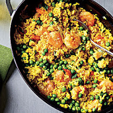 Shrimp with Lemon-Saffron Rice