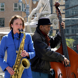 columbus circle by Lin Nyuk - People Musicians & Entertainers