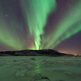 Victory by Benny Høynes - Landscapes Starscapes ( winter, auroras, northernlights, colors, norway )