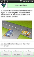 Screenshot of RTA Car Driver Knowledge Test