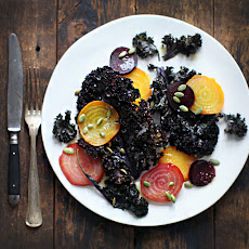 Roasted Kale and Beets with Honey-Horseradish Vinaigrette